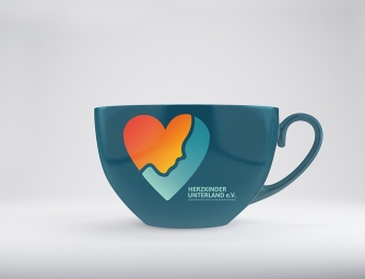 Re-Design Herzkinder Tasse blau