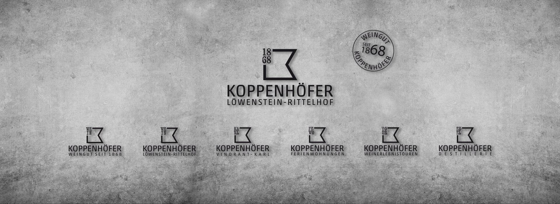 Übersicht Logos für Weingut Koppenhöfer