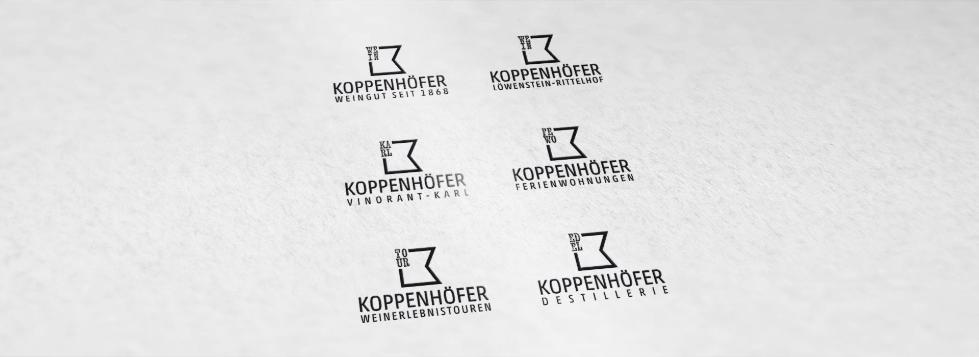Weingut Koppenhöfer Logovarianten