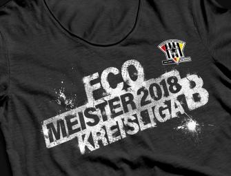 Fussball Meister-T-Shirt